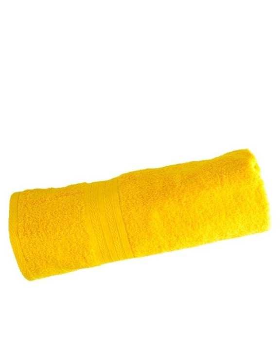 Soft Cotton Bath Towel - Yellow