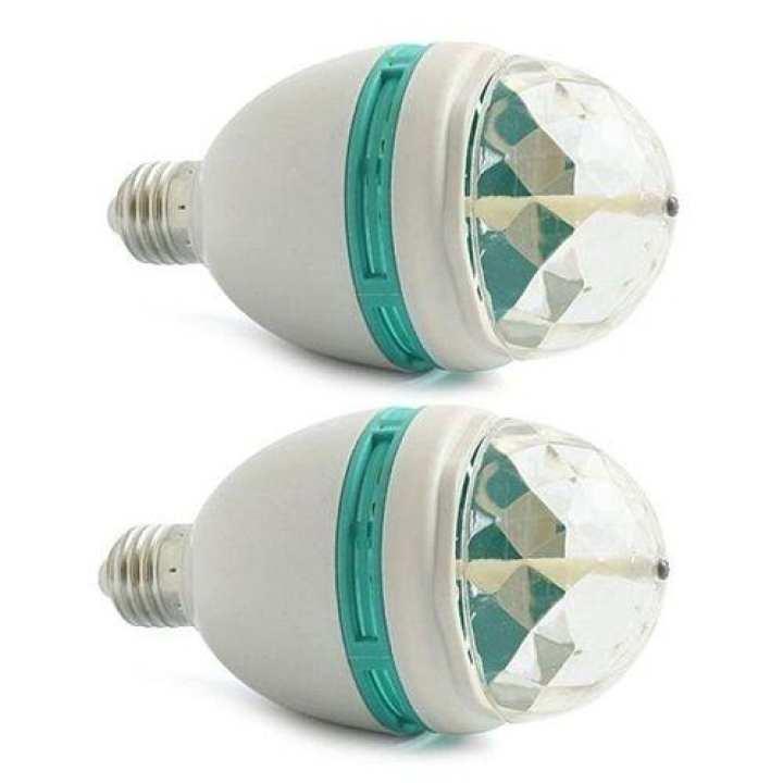 Pack Of 2 - Rotating Led Disco Light Bulb