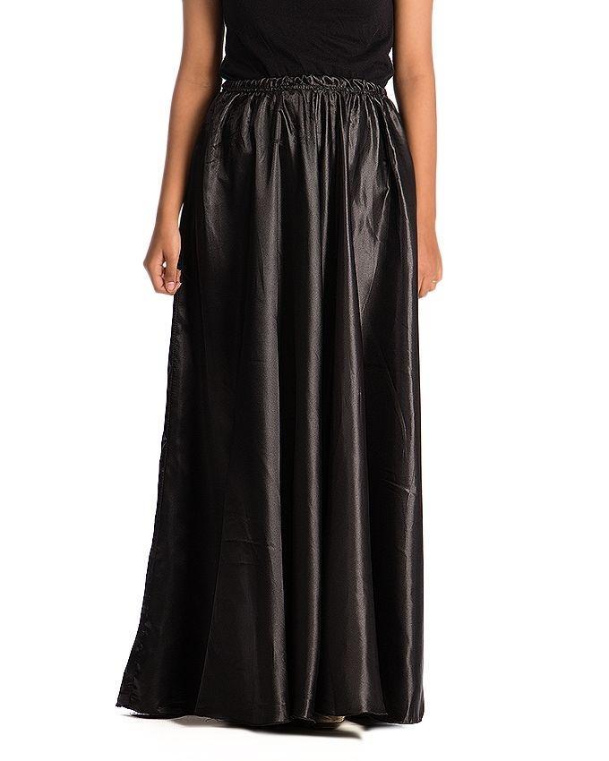 Black Silk Skirt For Women