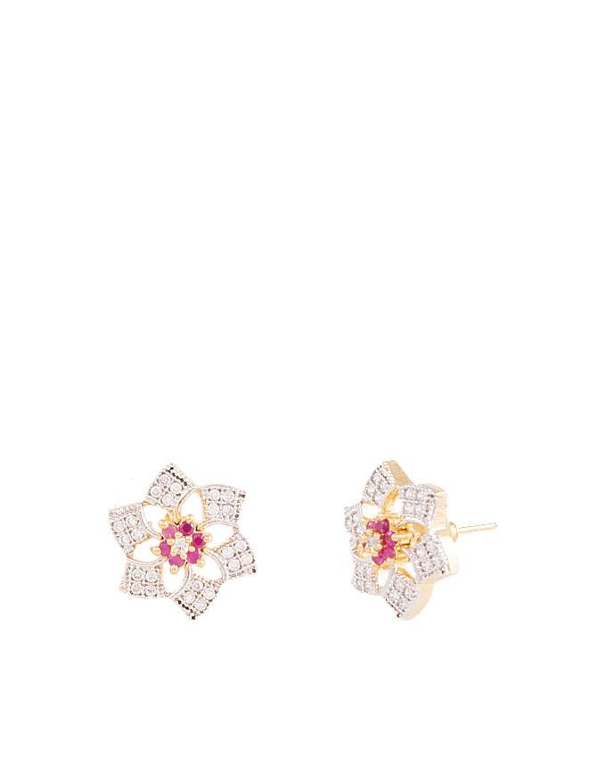 Gold Plated Zircon Earrings for Women - ER-0040