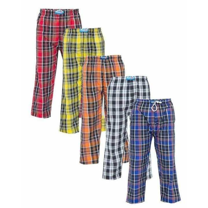 Pack of 3 Checkered Trousers for Men