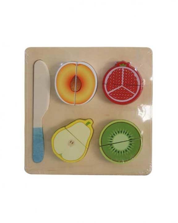 Wooden Puzzle Fruit Set - Multicolor