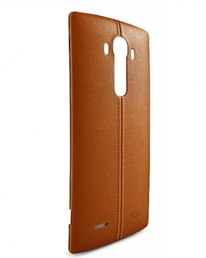 Leather Back Cover for LG G4 - Brown