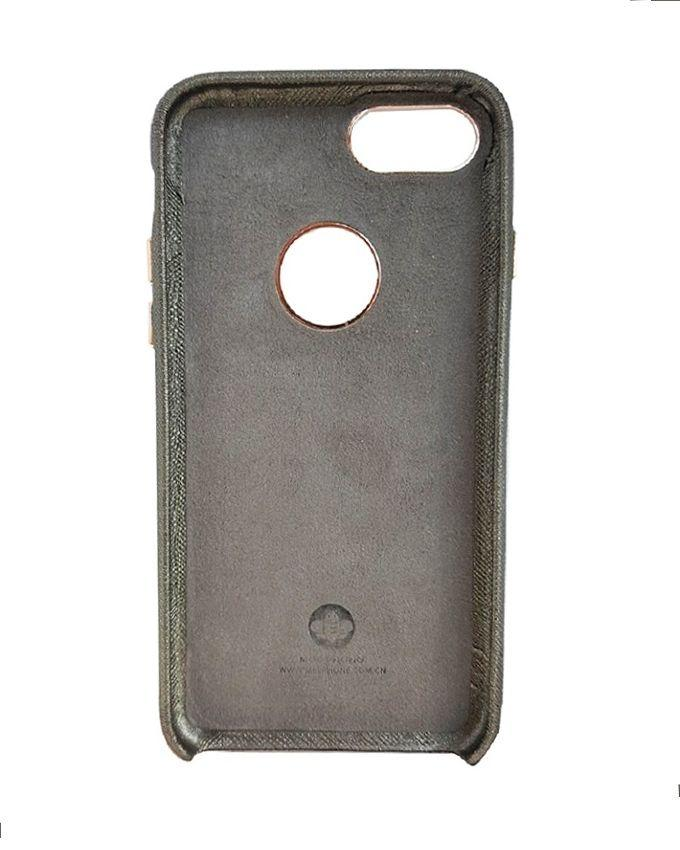 Leather Coated Back Mobile Cover For iPhone 7 - Grey