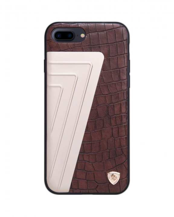 Hybrid Crocodile Leather Case For iPhone 7 Plus - Brown