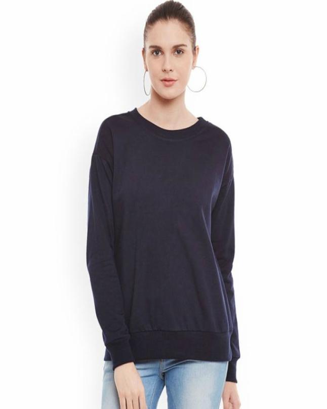 Navy Blue Sweatshirt for Women - TJ-379