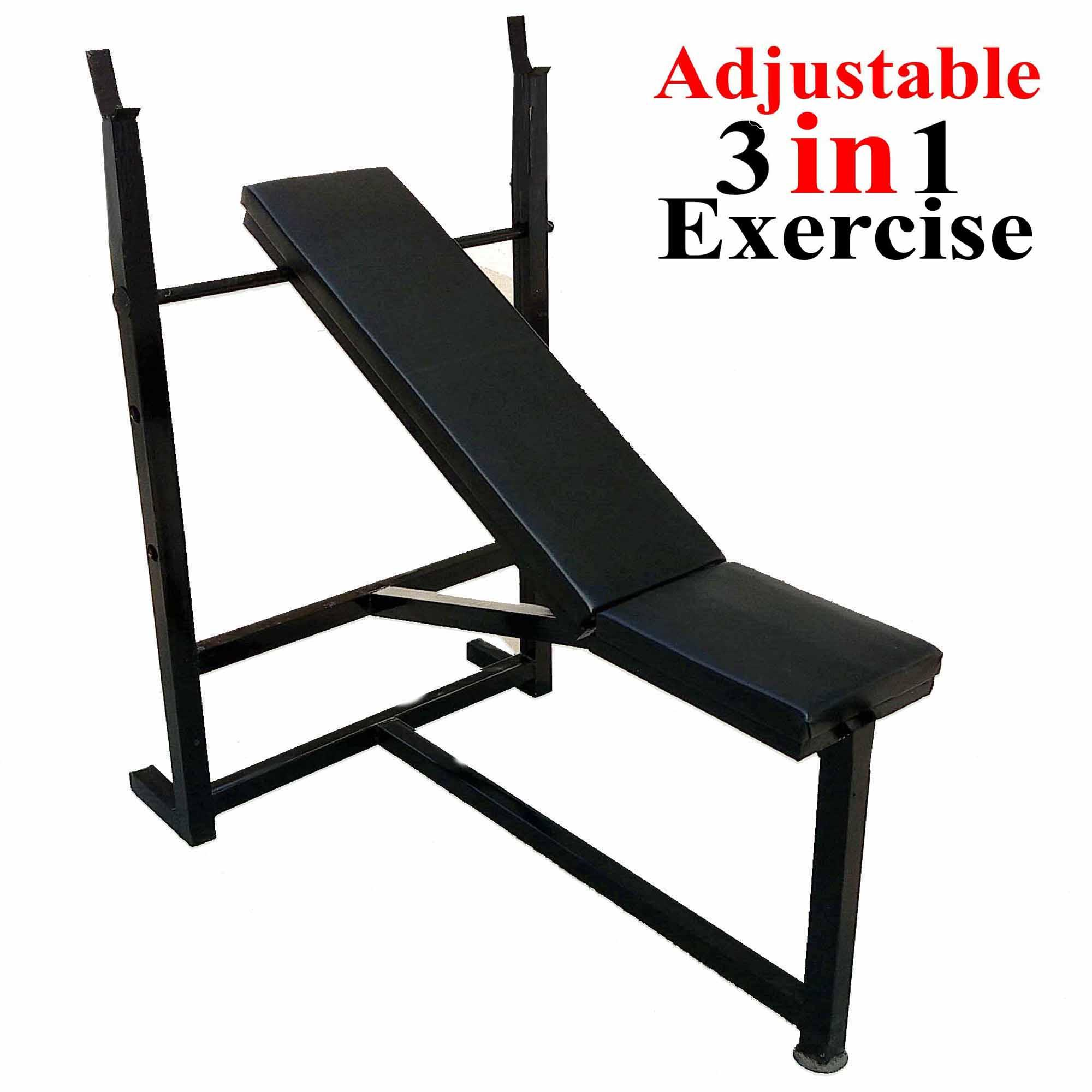 3 Exercise Adjustable Chest Bench Press Incline Decline Straight Chest  Exercise Weight Lifting Body Building Gym