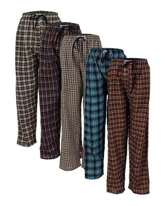 Pack Of 5 - Checkered Pajamas For Men
