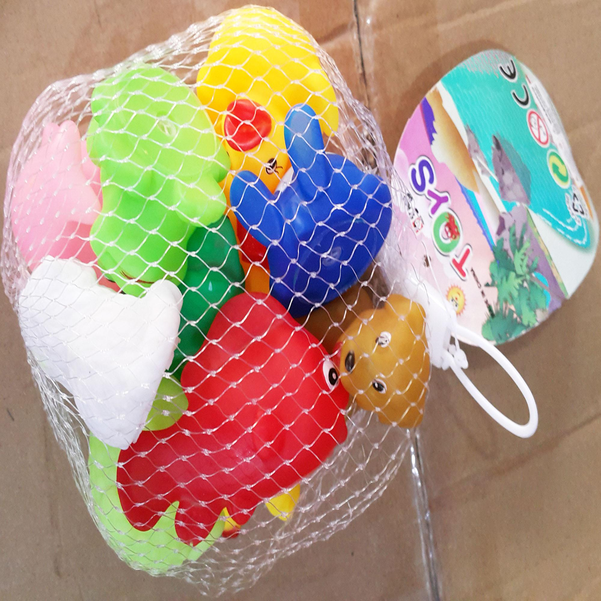 Baby / Kids Cute Squishy Sound Toys Multi Packed in a white Net Baby Toys Kids Toys Multi in 1 -KSQ
