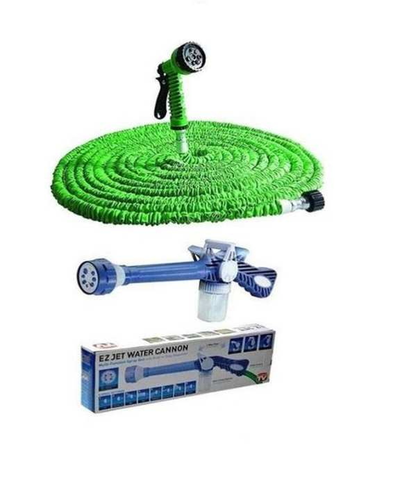 100Ft Magic Hose Pipe With Water Canon Spray Gun