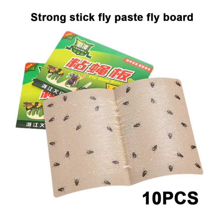 Fly Trap Fly Glue Board Fly Catchers Economic Convenient Paper 10PCS Flies Catchers