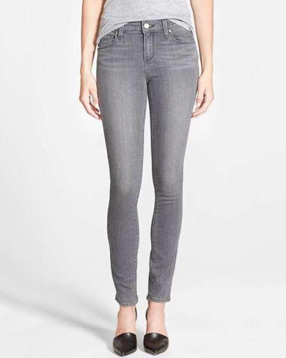 Grey Denim Skinny Jeans for Women
