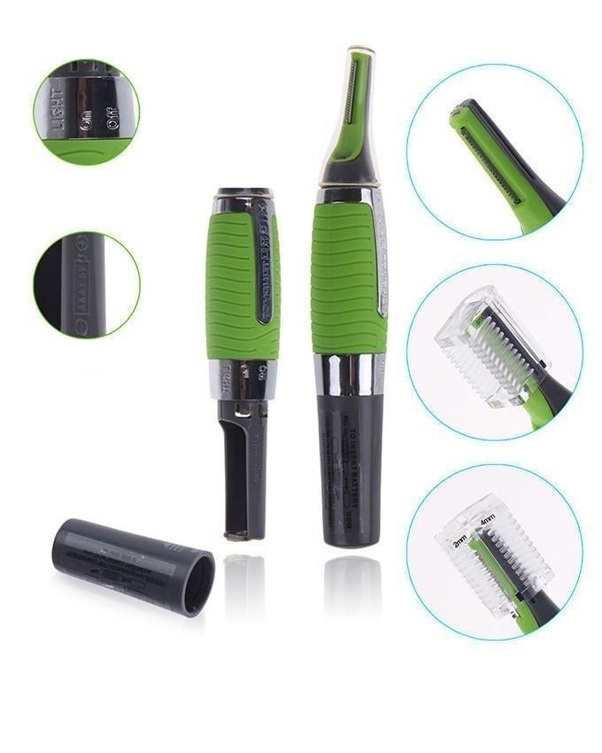 Nose Hair Trimmer - Green & Black