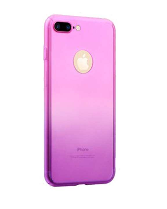 360 Degree Full Protection Case with Screen Protection for Apple iPhone 6 Plus, 6s Plus - Pink Purple