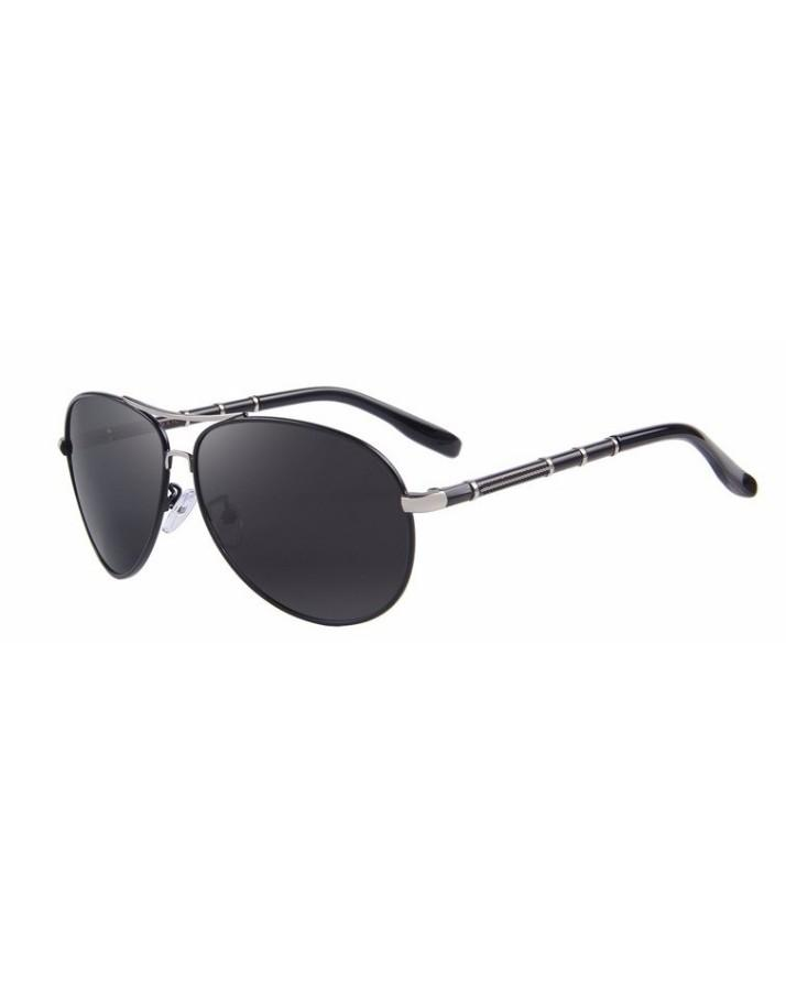 69822d878bd Silver Mens Classic Aviation HD Polarized Aluminum Driving Luxury Sunglasses  with Box