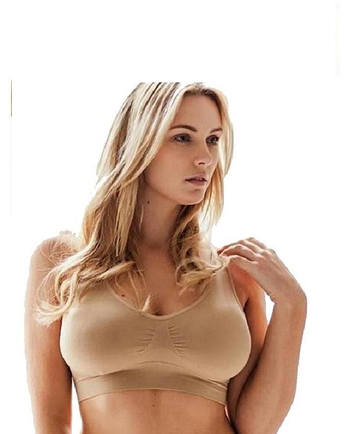 c762f1fffa57c4 Comforts Beige Cotton Air Bra for Women
