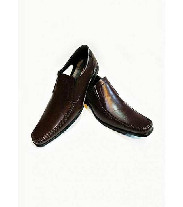 Dark Brown Pu Leather Formal Men's Shoes