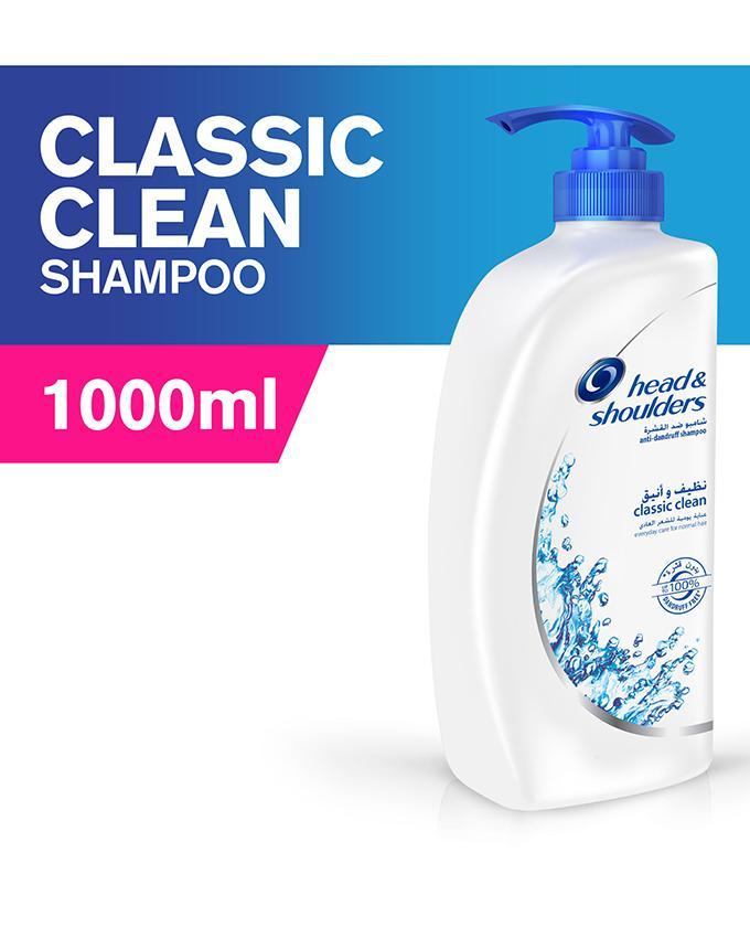 Head & Shoulders Classic Clean Shampoo, 1000ml