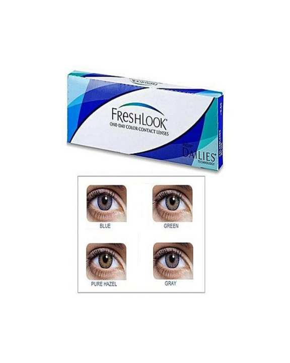 4 Pair Pack of FreshLook - 3 Tone - Contact Lenses - 4 Different Colors With 4 FREE Kits