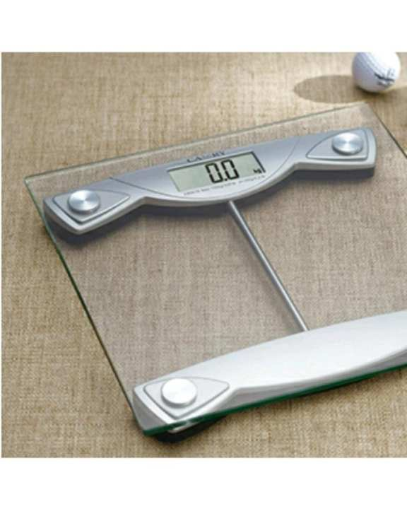 Electronic Personal Scale / Digital Body Weight Machine With Tempered Glass Platform Eb9016