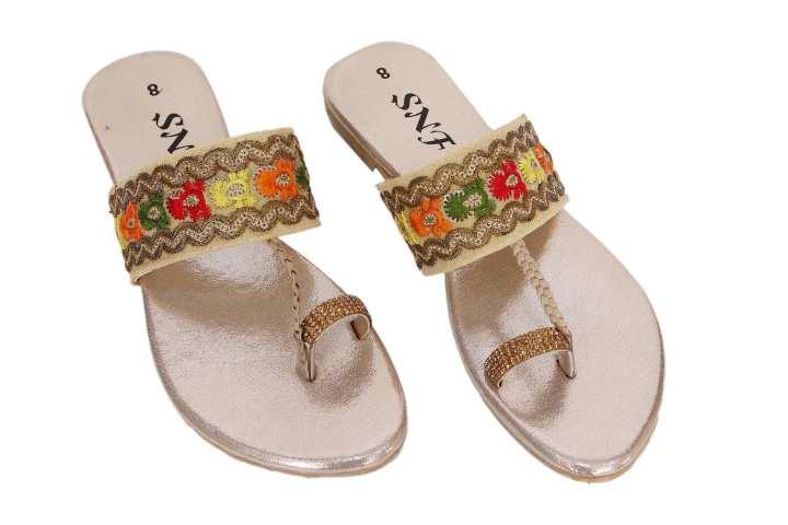 Golden Slippers For Women