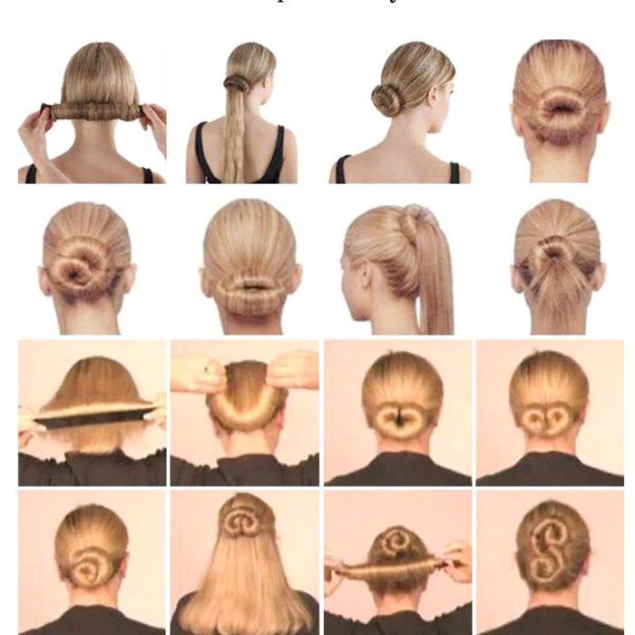 9db0f4189 Hair Accessories Synthetic Wig Donuts Bud Head Band Ball French Twist Magic  DIY Tool Bun Maker