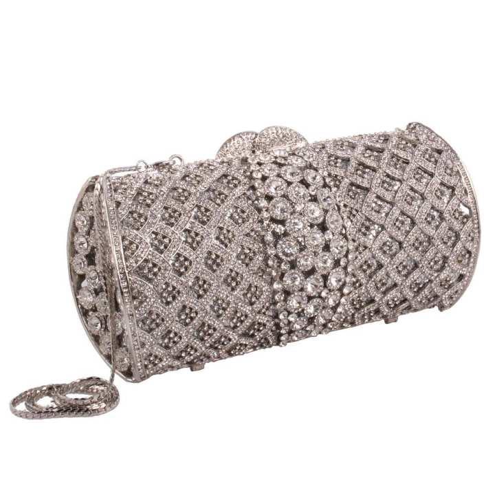 Silver Women 'Darly' Wedding Clutch Bag BG7302