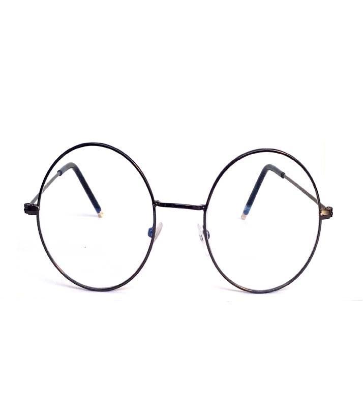 90e453b8fd Rangeen Clear Lens Fashion Round Glasses - Clear