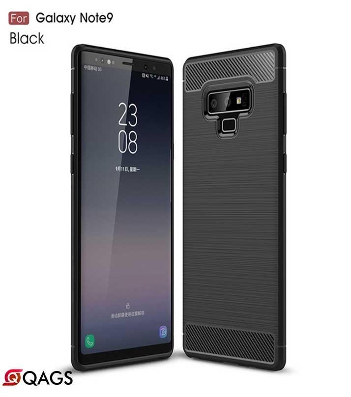 Samsung Galaxy Note 9 Carbon Fiber Brush Mark Antishock Drop Resistance Silicon Tpu Case Back Cover