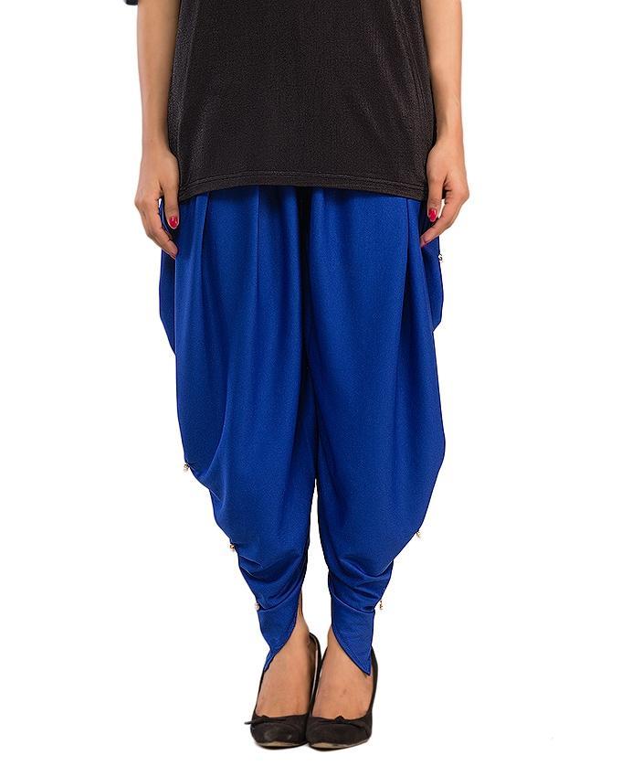 Royal Blue Tulip Shalwar for Women