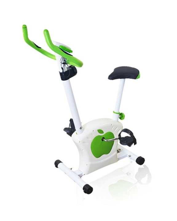 Magnetic Exercise Bike - White & Green