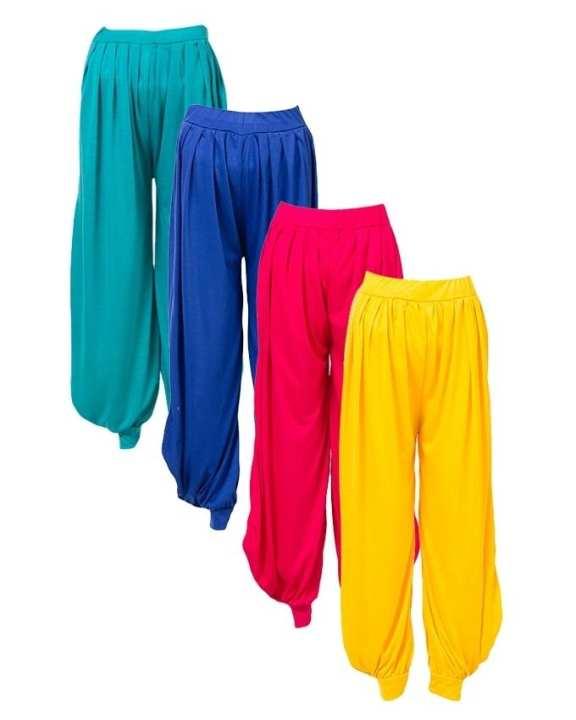 Pack of 4 - Multicolor Viscose Harem Pants For Women