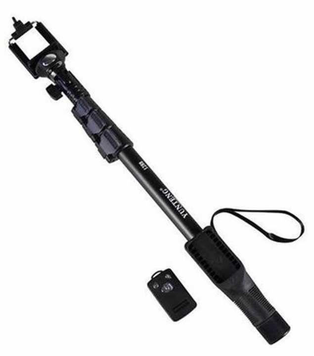 YT-1288 - Bluetooth Selfie Stick For Smartphones & Digital Cameras - Black