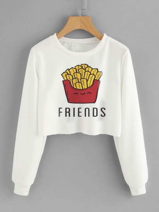 Friends Crop Sweatshirt For Women