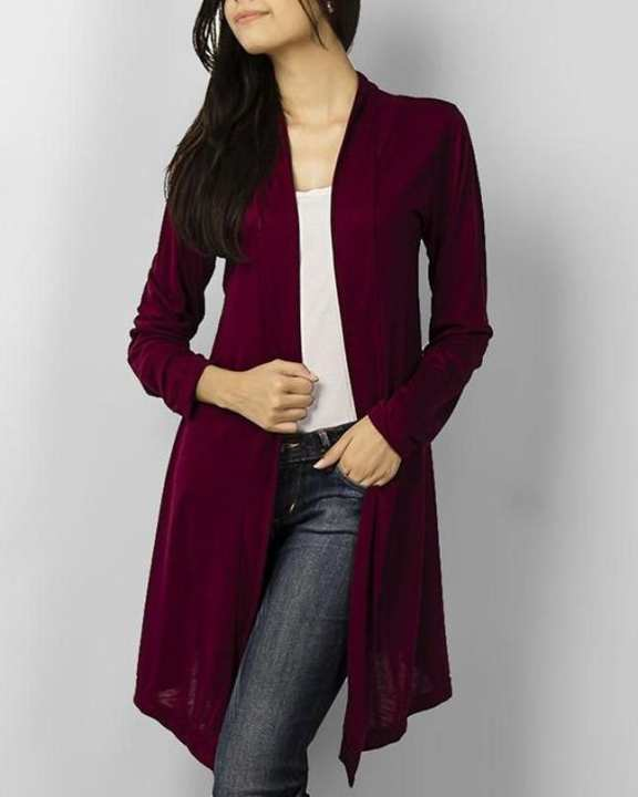 Maroon Viscose Shrug For Women