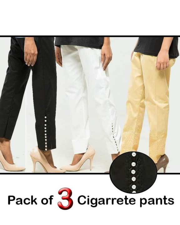 Pack of 3 Cigarrete pants for women
