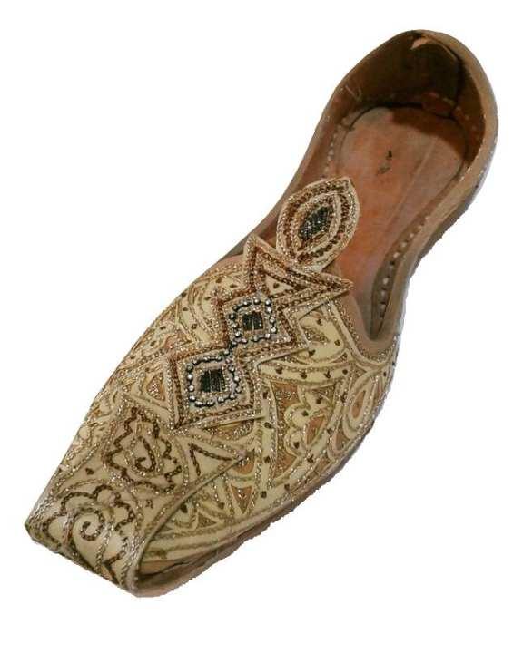Golden Leather Handmade Khussa for Men