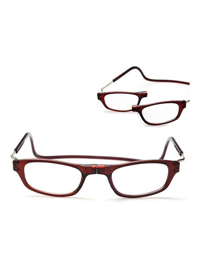 5038459fb123 Magnetic Reading Glasses in brown - Reading magnetic Adjustable Glass 1.0  Brown