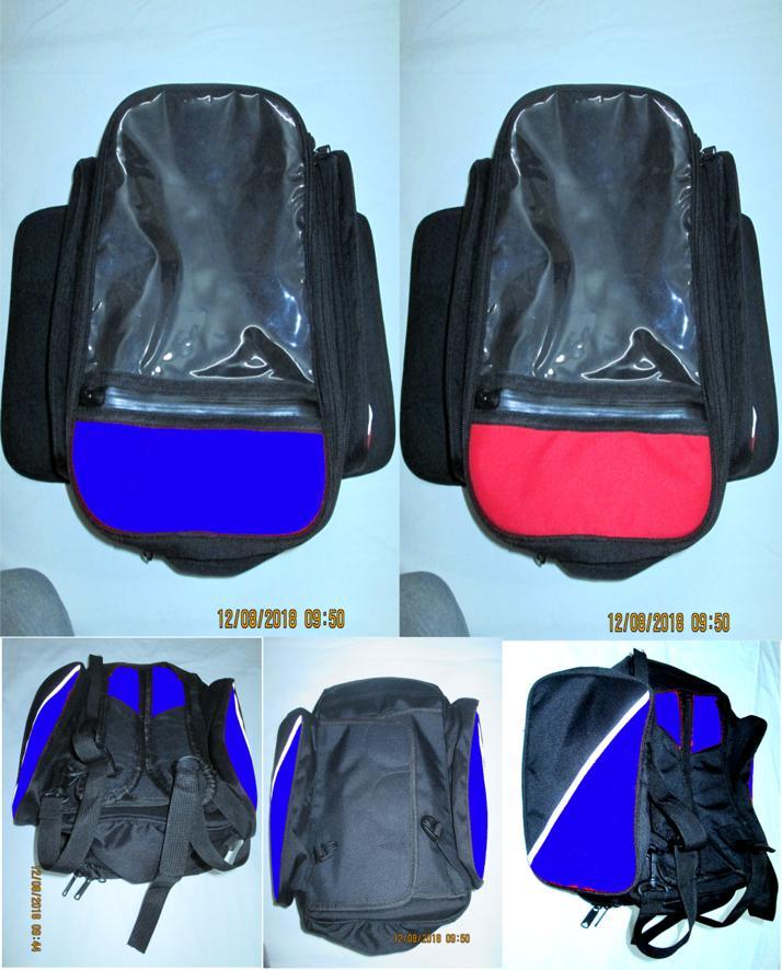 Bikers Motorcycle Tank Magnet Touring Bag Helmet Travel Backpack Tool Tail Luggage Waterproof Multi Riding Accessories Organizer Black Unisex