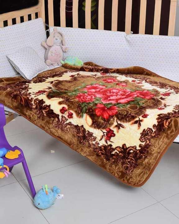 Plush Mink Royal Baby Embossed Junior Blanket
