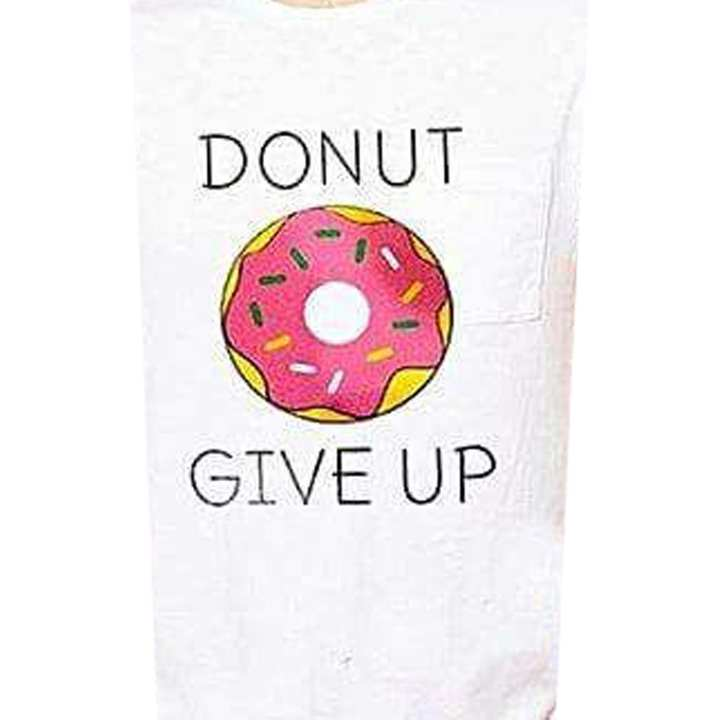 DONUT GIVE UP Printable Hoodie Sticker for Kids