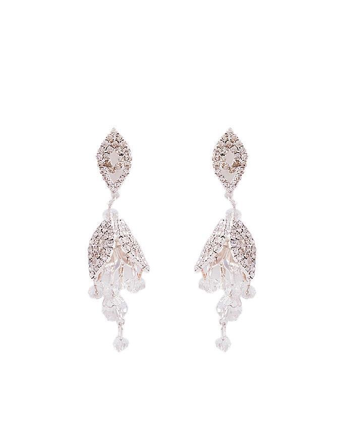 Rose Gold Plated Crystal Earrings for Women - J-100