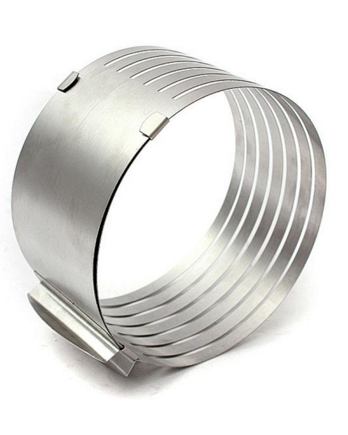 """Cake Slicer Small Ring - 6-8"""" - Silver"""