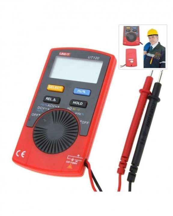 UNI-T - UT-120 Series Digital Multimeter Volt Meter Current Tester - Black & Red