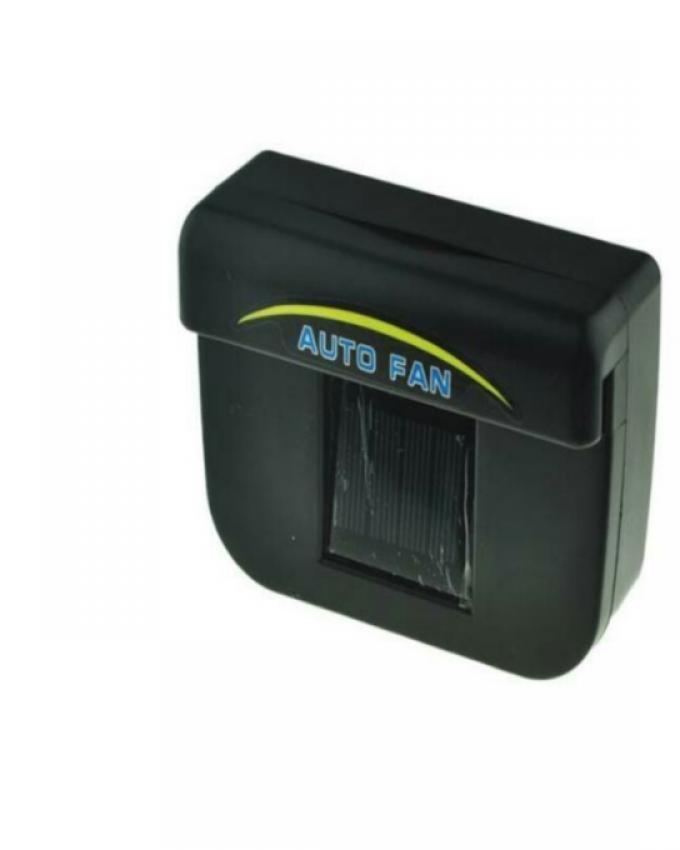 Auto Cool Solar Powered - Black