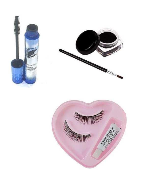 Pack Of 3 - Gel Liner, Mascara & Eyelashes