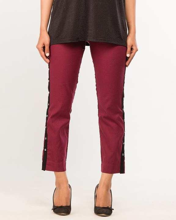 BEECHTREE - Absolute MAROON 1-Pcs Pants For Women