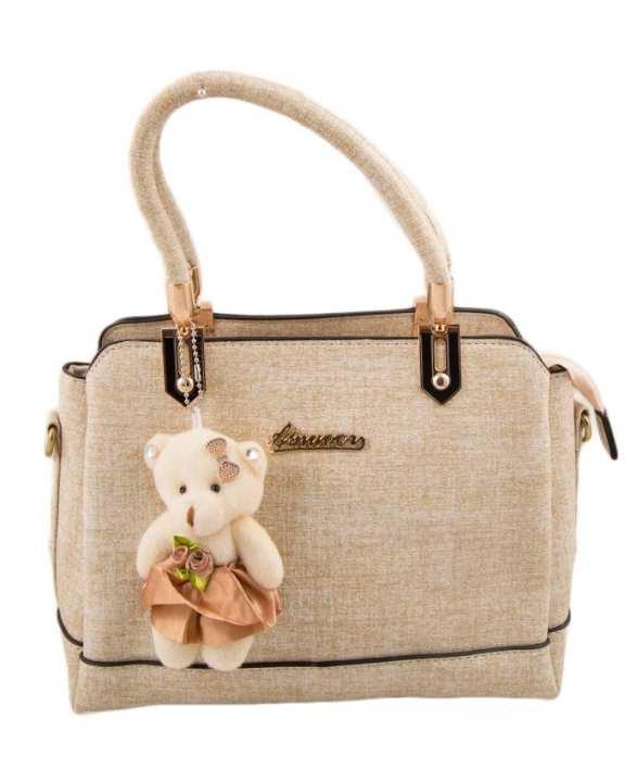 Off White Leather Handbag for Women