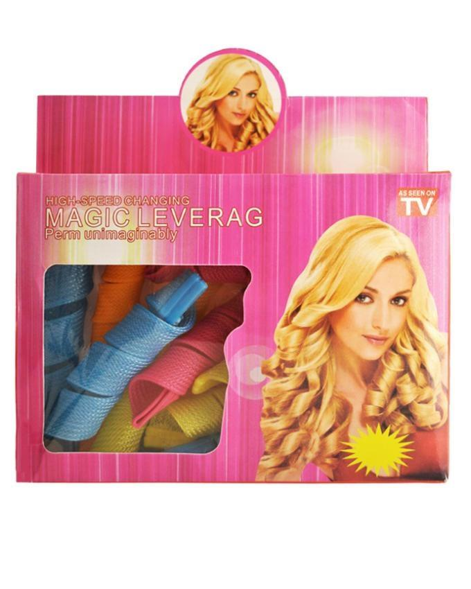 Pack Of 18 Magic Leverage Hair Curlers