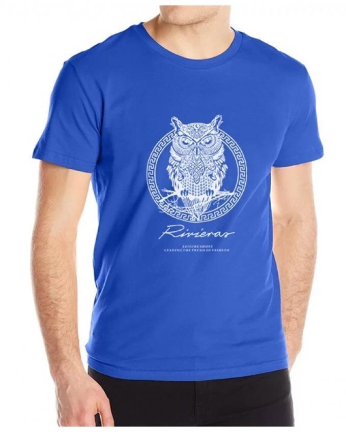 2018 Spirit Of The Night Bird Short Sleeve For Men - Blue